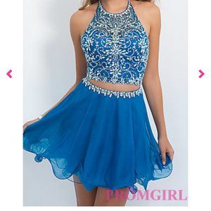 Beautiful sapphire blue dress with beaded top